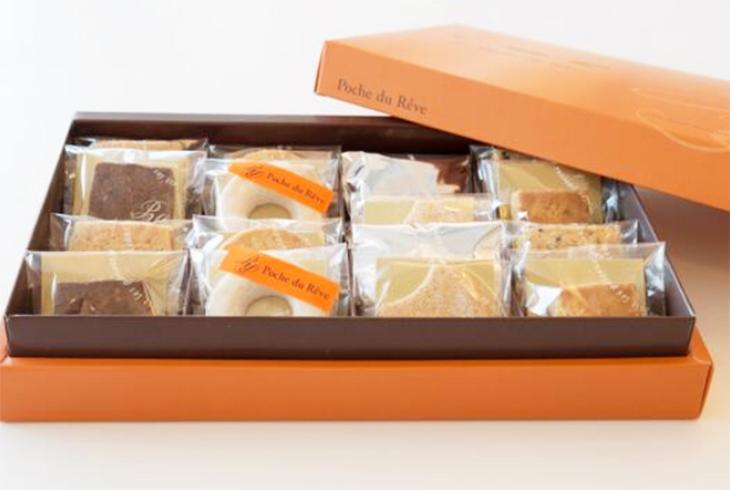 ケーキと並んで人気なのが、和三盆リングサブレ
